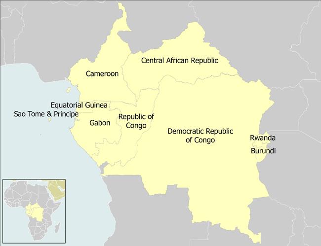 Congo Basin On Map Of Africa.Where Carpe Works Carpe